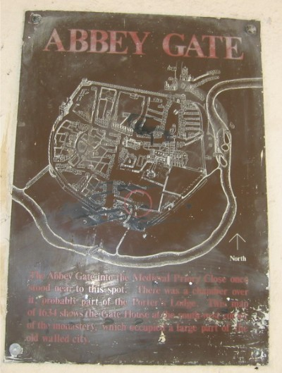 Abbey Gate plaque