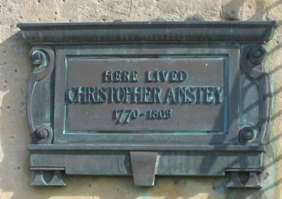Christopher Anstey plaque