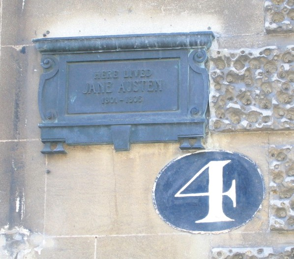 Plaque to Jane Austen