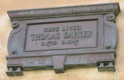 Location of plaque at Doric House