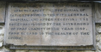Plaque at Burial Ground