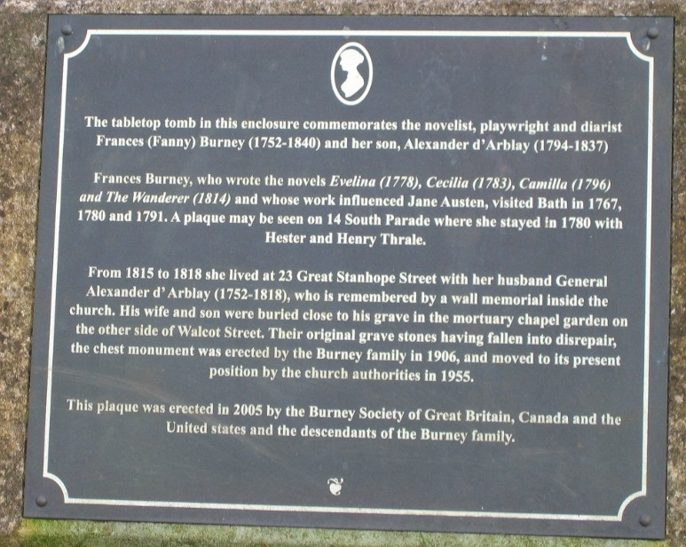 Fanny Burney memorial