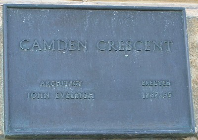 Camden Crescent plaque