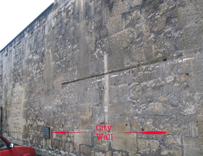 Location of plaque on City Wall