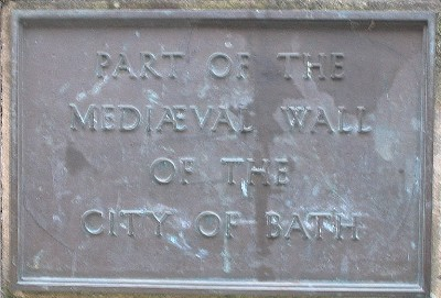 City Wall plaque