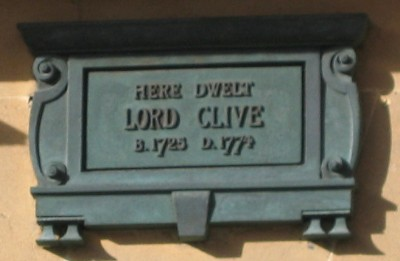 Robert, Lord Clive plaque