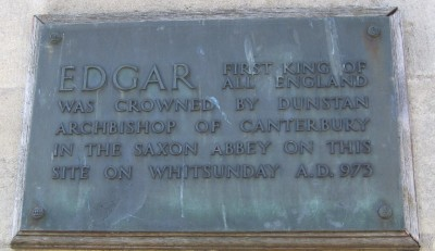 King Edgar plaque