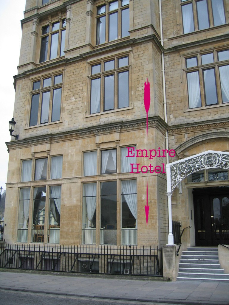 Location of plaque on Empire Hotel