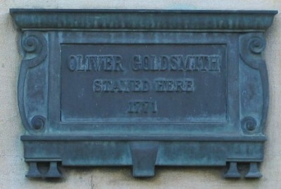 Oliver Goldsmith plaque