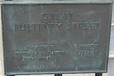 Great Pulteney Street plaque