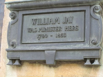Reverend William Jay plaque
