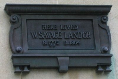 Walter Savage Landor plaque