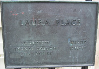 Plaque at Laura Place