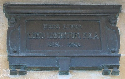 Frederic, Lord Leighton plaque