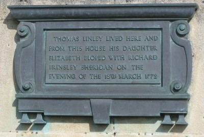 Thomas Linley plaque
