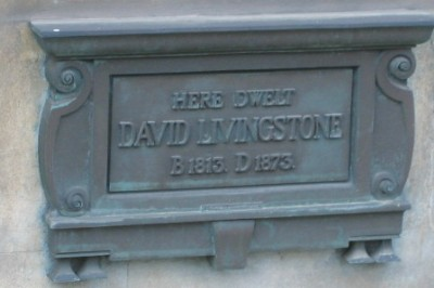 Dr David Livingstone plaque