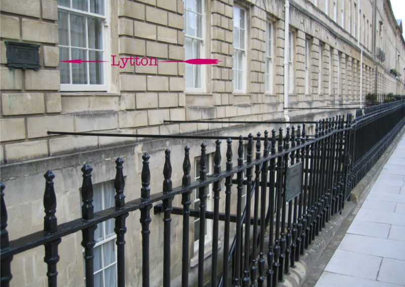 Location of plaque at Connaught Mansions, Pulteney Street