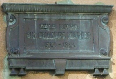 Sir Charles Napier plaque