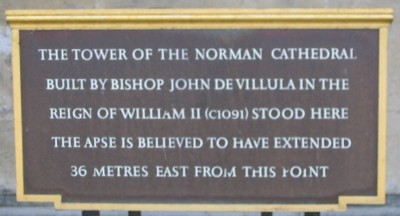Norman Cathedral plaque