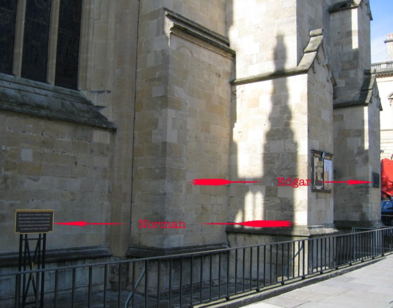 Location of plaques at Bath Abbey