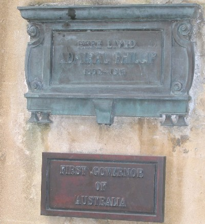 Vice-Admiral           Arthur Phillip plaque