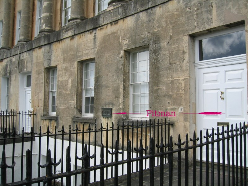 Location of plaque at  17, Royal Crescent