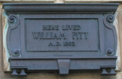 William Pitt the younger plaque