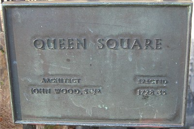 Plaque at Queen Square