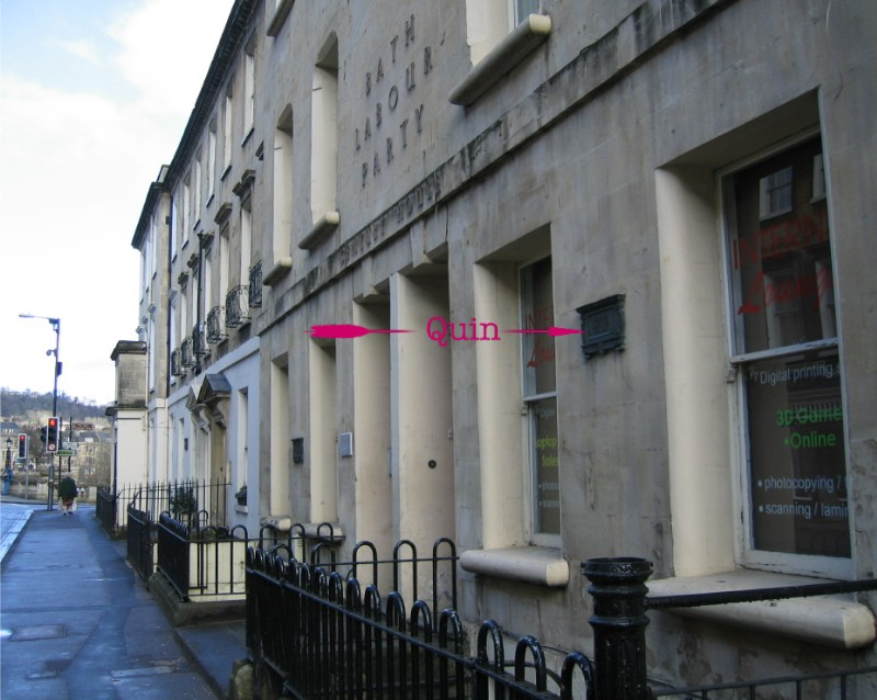 Location of plaque at 4, Pierrepont Street