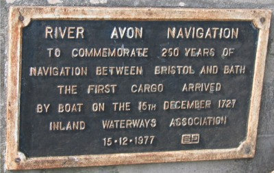 River Avon Navigation plaque