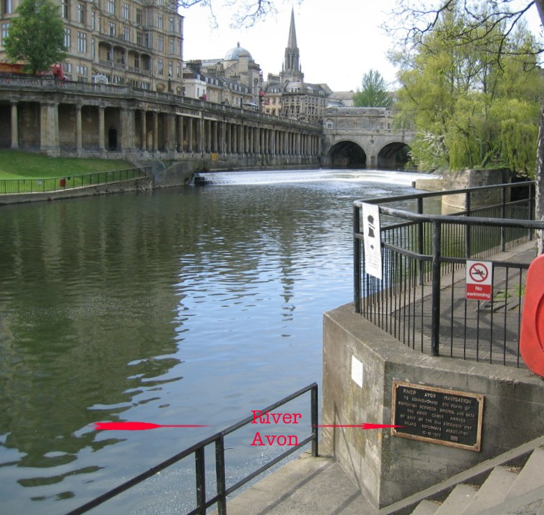 Location of River Avon Navigation plaque