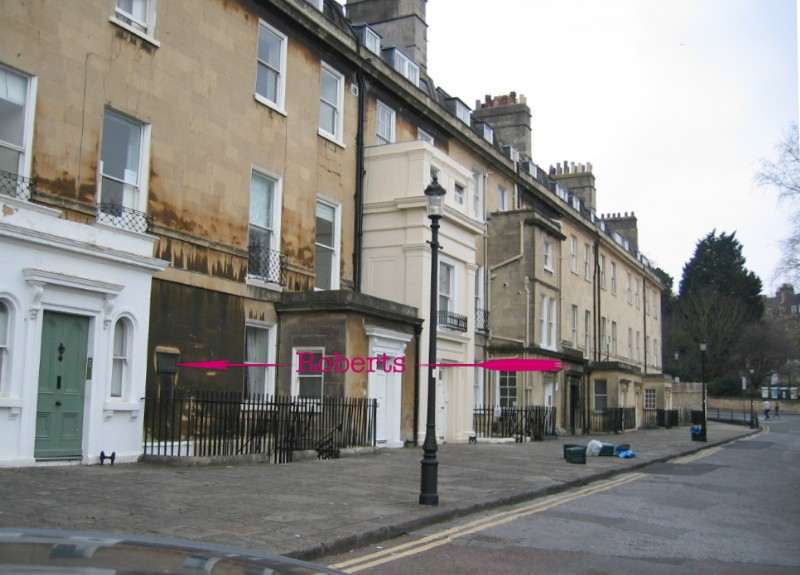 Location of plaque at  9, Queen's Parade
