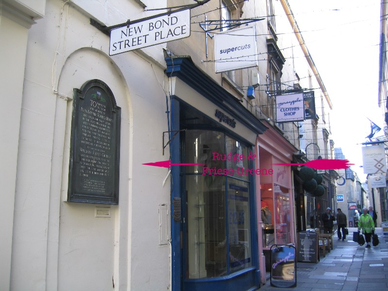 Location of plaque at New Bond Street Place