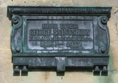 George Saintsbury plaque