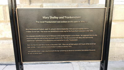 Mary Shlley           plaque