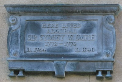Admiral Sir William Sydney Smith plaque