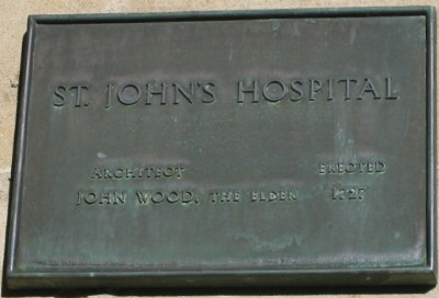 St John's Hospital plaque