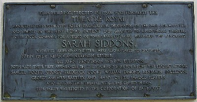 Old Theatre Royal plaque