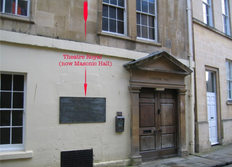 Location of plaque at old Theatre Royal