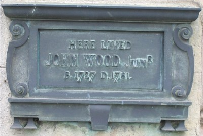 John Wood, the younger, plaque