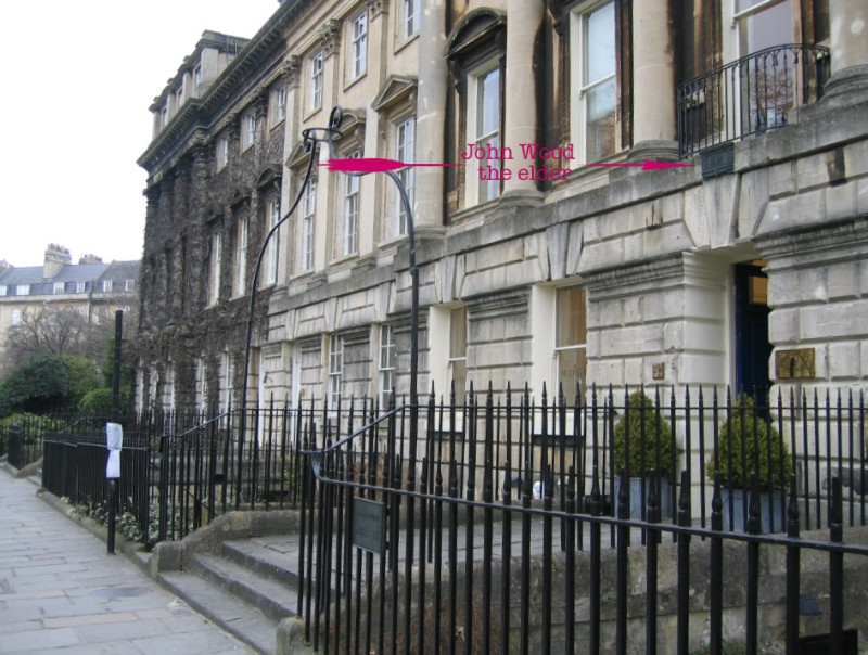 Location of plaque at 24 Queen Square