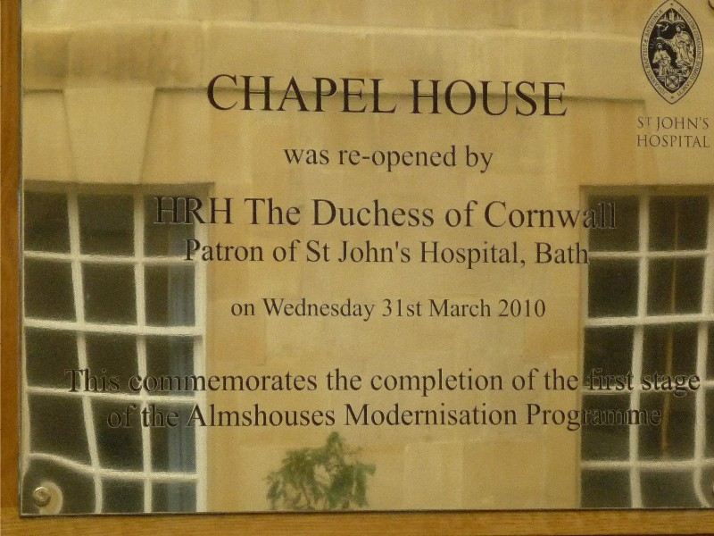 chapel house plaque