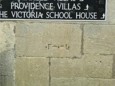 Flood mark on wall in Henrietta Street