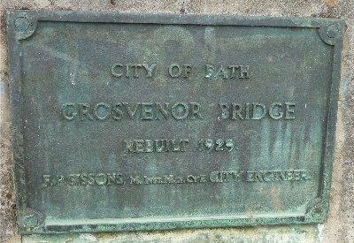 Grosvenor Bridge plaque 1