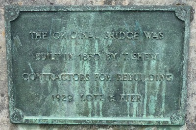 Grosvenor Bridge plaque 2