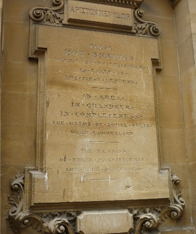 Roman Baths plaque 1