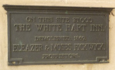 Location of plaque at site of White Hart