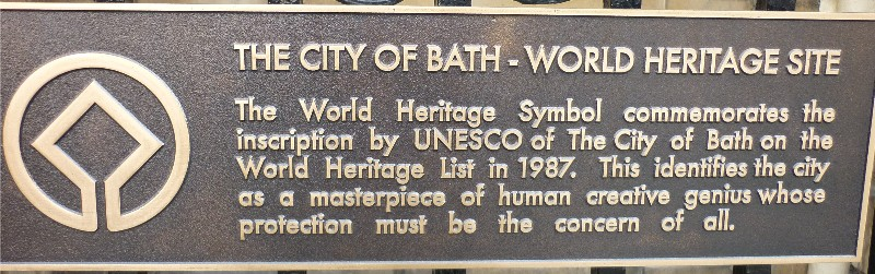 World Heritage Site plaque